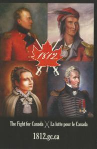 Four Canadian Heroes of War of 1812.  Photo: Government of Canada