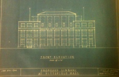 Proposed new library design, in 1944