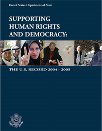 Annual report on U.S. support for human rights. Photo, State Department